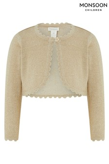Monsoon Gold Baby Niamh Cardigan