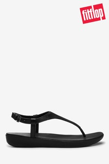 FitFlop™ Black Lainey Toe Post Sandals