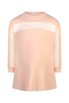 الفتيات الوردي القطن الصوف اللباس