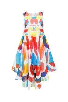 فستان قطن ألوان متعددة بناتي