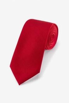 Red Wide Twill Tie