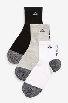 Monochrome Sports Cropped Ankle Socks 3 Pack