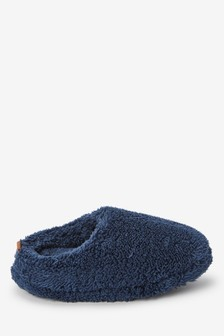 Navy Cosy Mule Slippers (Older)