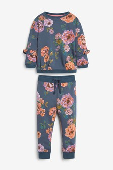 Navy Navy Floral Co-ord Set (3mths-7yrs)