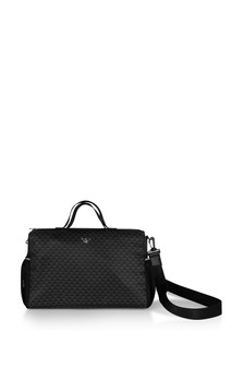 Baby Black Logo Print Changing Bag