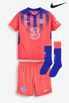 Nike Red Chelsea FC Third 20/21 Infant Kids Mini Kit