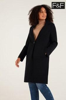 F&F Black Unlined Formal Coat