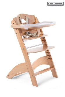 Childhome Baby Grow Lambda 3 Natural High Chair and Cover
