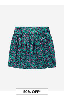 Girls Cheetah Print Sateen Skirt