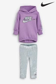Nike Little Kids Lilac Hoody And Legging Set