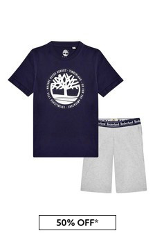 Timberland® Boys Navy Cotton Set