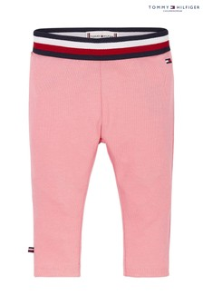 Tommy Hilfiger Pink Baby Solid Leggings