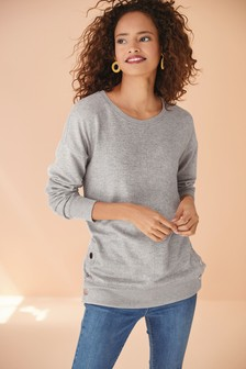 Grey Longline Cosy Top