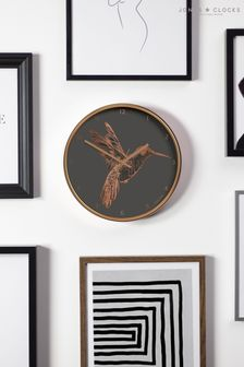Jones Clocks Academy Copper Hummingbird Wall Clock