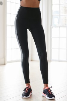 Mono Colourblock High Waist Sculpting Sports Leggings