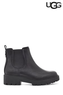 UGG® Black Leather Marstrum Heavy Duty Ankle Boots