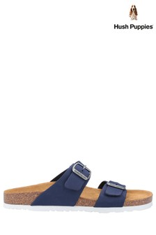 Hush Puppies Blue Kylie Mule Sandals