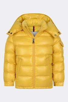 Boys Yellow Down Padded New Maya Jacket