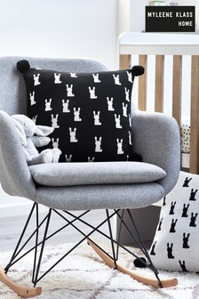 Myleene Klass Monochrome Bunny Knitted Cushion