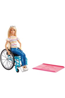 Barbie Fashionista Blonde Doll With Wheelchair & Ramp