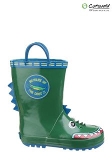 Cotswold Green Puddle Waterproof Pull-On Boots