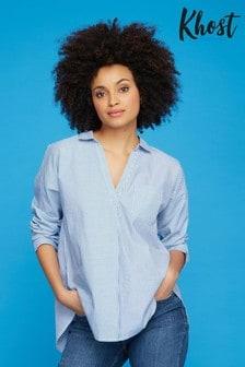 Khost Blue Stripe Cut About Shirt