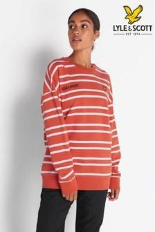 Lyle & Scott Paprika Orange Striped Sweatshirt