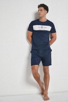 Navy Block Pyjama Set