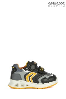 Geox Baby Boy/Unisex Dakin Black/Orange Trainers