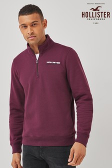 Hollister Retro Sport Half Zip Jumper