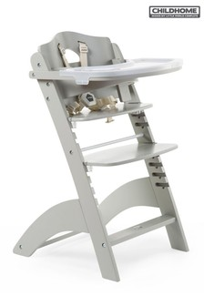 Childhome Baby Grow Lambda 3 High Chair with Tray and Cover Stone Grey