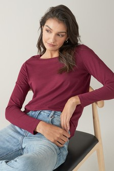Berry Red Long Sleeve Top