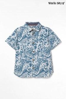 White Stuff Blue Kids Botanical Shirt