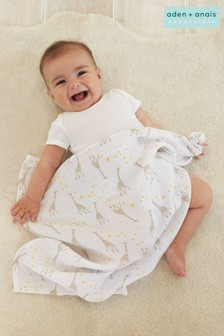 aden + anais Essentials Starry Star Cotton Muslin Swaddle Blanket