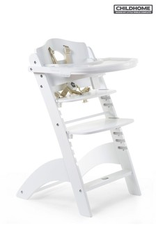 Childhome Baby Grow Lambda 3 White High Chair and Cover