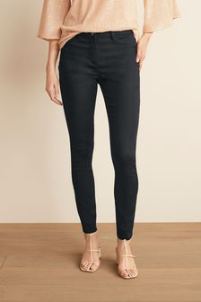 Black Power Stretch Denim Leggings