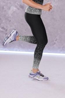 Black Reflective Ombre Running Leggings