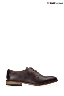 Base London Red Haddon Softy Lace-Up Shoes