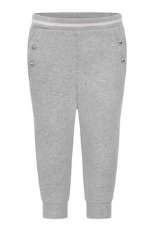 Baby Girls Grey Cotton Joggers
