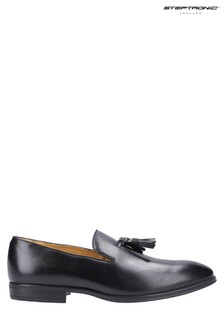 Steptronic Black Frome Slip-On Loafers