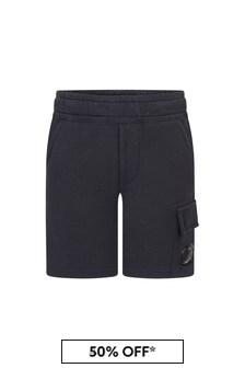 CP Company Boys Navy Cotton Shorts
