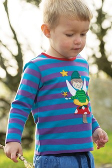 Frugi Purple GOTS Organic Long Sleeve Top