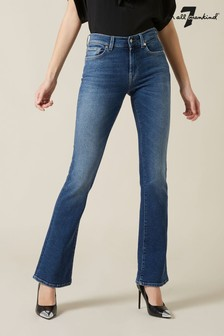 7 For All Mankind Mid Blue Bootcut Jeans