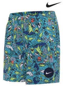 Nike Blue Shark Print Swim Short