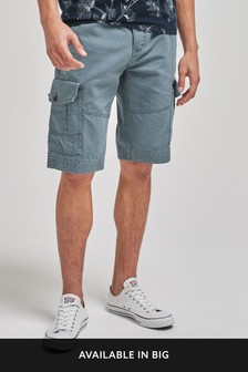 Blue Premium Laundered Cargo Shorts