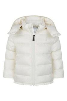 Baby Girls  Ivory Padded Jacket