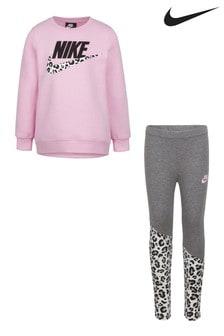 Nike Little Kids Pink Wild Top and Legging Set