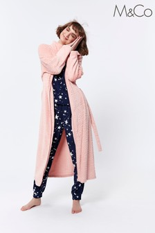 M&Co Pink Paisley Print Dressing Gown