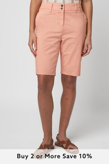 Pink Chino Knee Shorts