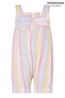 Monsoon Multi Baby Rainbow Stripe Jumpsuit